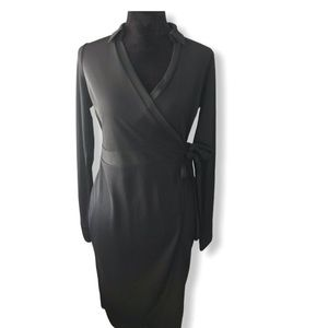The Limited Collar Wrap Dress